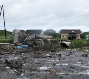 Последствия катастрофы самолёта в Карелии