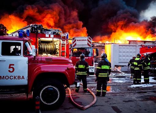 Пожар на мясокомбинате