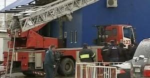 Крупный пожар на рынке в Москве
