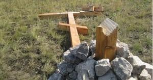 Кресты в России спилили члены Народной воли